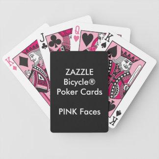 CARAS COR-DE-ROSA feitas sob encomenda dos cartões Baralho Para Poker
