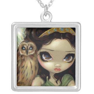 Caras da deusa da coruja de Athena da COLAR do paí