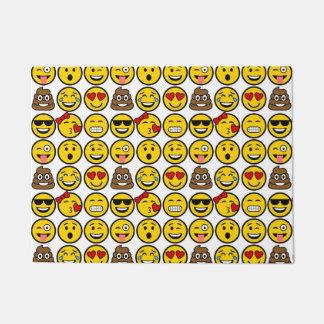 Caras da emoção do teste padrão de Emoji do Tapete