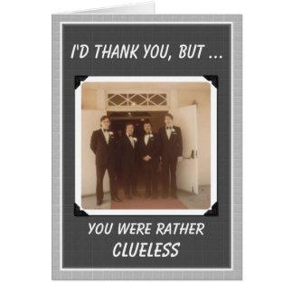 Caras dos obrigados que Wedding os obrigados - Cartão Comemorativo