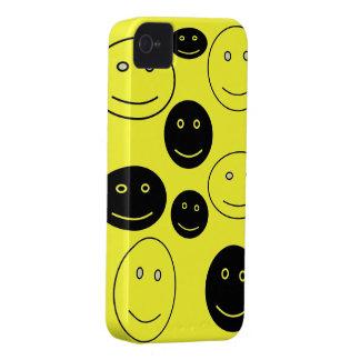 Caras felizes preto e branco capas para iPhone 4 Case-Mate