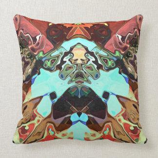 Caras nas formas 2 do abstrato travesseiro de decoração