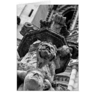 Caras no cartão da catedral