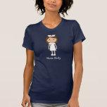 Caráter bonito da enfermeira dos desenhos animados t-shirt