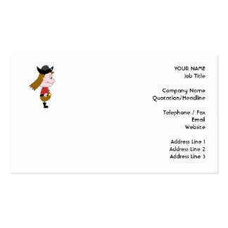 Caráter de desenhos animados do pirata cartão de visita