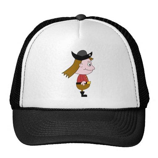 Caráter de desenhos animados do pirata boné