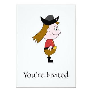 Caráter de desenhos animados do pirata convite 12.7 x 17.78cm