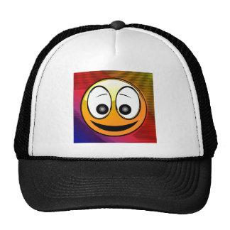 Caráter de sorriso da cara boné