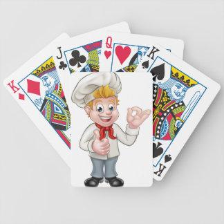 Caráter do cozinheiro chefe ou do padeiro dos baralho para poker