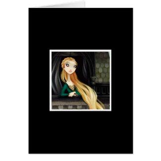 Caráter escuro 2 do conto de fadas - Rapunzel Cartão Comemorativo