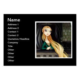 Caráter escuro 2 do conto de fadas - Rapunzel Cartão De Visita Grande
