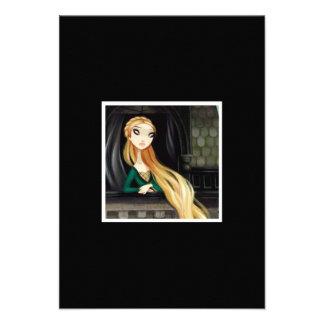 Caráter escuro 2 do conto de fadas - Rapunzel Convites Personalizados