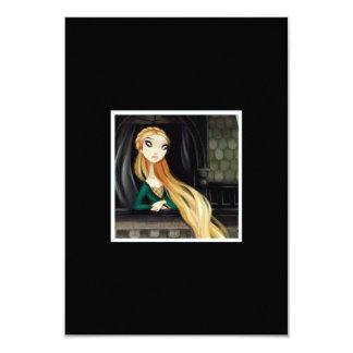 Caráter escuro 2 do conto de fadas - Rapunzel Convite 8.89 X 12.7cm