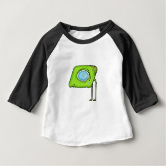 Caráter estrangeiro engraçado do monstro camiseta para bebê