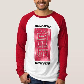 Caráteres chineses - dignidade camiseta
