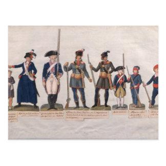 Caráteres da Revolução Francesa Cartão Postal