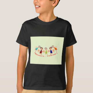 Caráteres gráficos com texto Happiness_is_Friends Camiseta