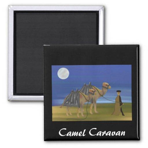 Caravana do camelo imã de geladeira