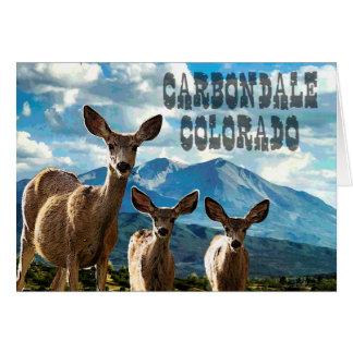 Carbondale, cartão de nota de Colorado