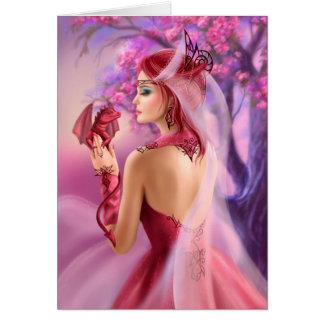 Carde a rainha bonita da mulher da fantasia e o cartão comemorativo