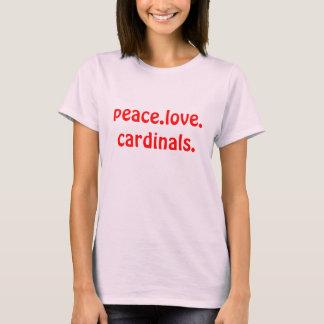 Cardeais do amor da paz originais camiseta