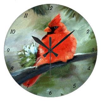 Cardeal do inverno relógio grande