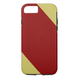 Cardeal e ouro listrados capa iPhone 7
