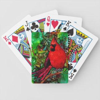 Cardeal na árvore jogos de baralhos