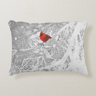 Cardeal no inverno almofada decorativa