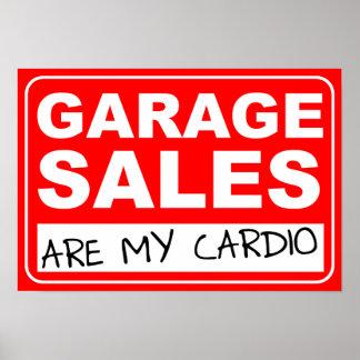 Cardio- poster da venda de garagem
