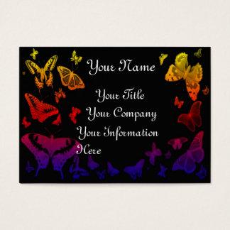 Cardtemplate do perfil do negócio das borboletas cartão de visitas