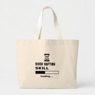 Carga da habilidade transportar de rio ...... sacola tote jumbo
