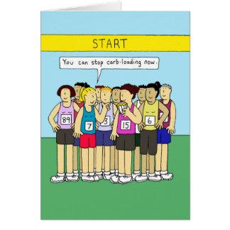 Carga de Carbo para os corredores, senhoras que Cartão Comemorativo