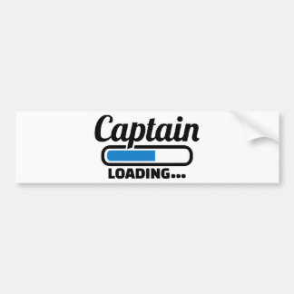Carga do capitão adesivo para carro