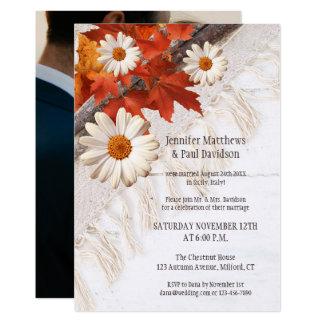 Cargo do outono ou após Wedding o convite da foto