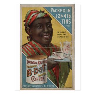 Carhart & café roasted comemorado irmão cartão postal