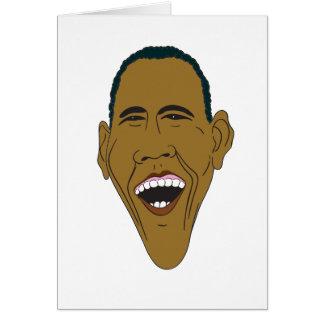Caricatura de Obama Cartão