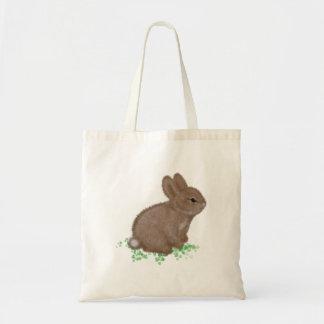 Caricatura do coelho sacola tote budget