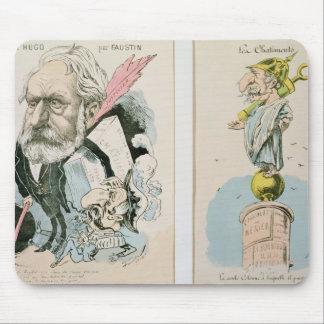 Caricaturas de Victor Hugo e de Napoleon III Mousepad