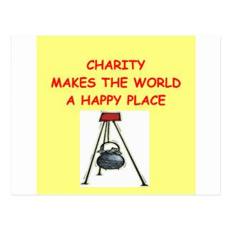 caridade cartão postal