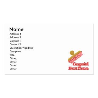 Carimbe para fora a doença cardíaca congenital cartão de visita