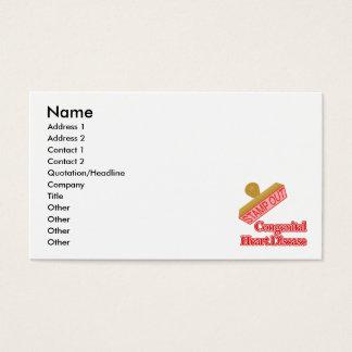 Carimbe para fora a doença cardíaca congenital cartão de visitas