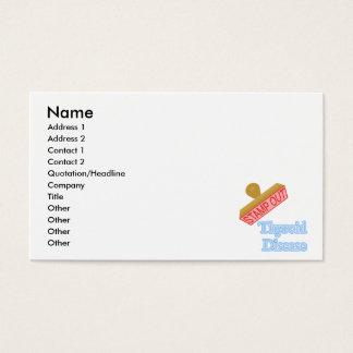 Carimbe para fora a doença de tiróide cartão de visitas