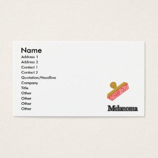 Carimbe para fora a melanoma cartão de visitas