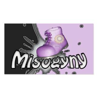 Carimbe para fora a misoginia personalizada cartão de visita