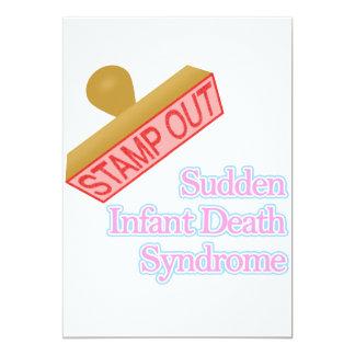 Carimbe para fora a síndrome da morte infantil convites