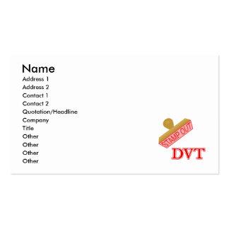 Carimbe para fora DVT Modelo Cartao De Visita
