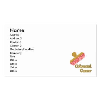 Carimbe para fora o cancer Colorectal Cartão De Visita