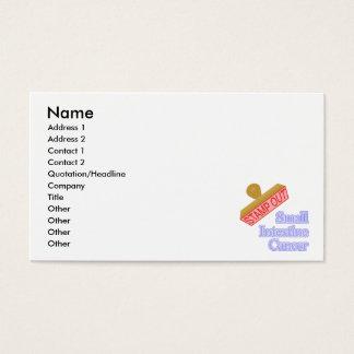 Carimbe para fora o cancer do intestino delgado cartão de visitas