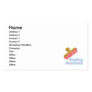 Carimbe para fora o cancro da mama hereditário cartão de visita